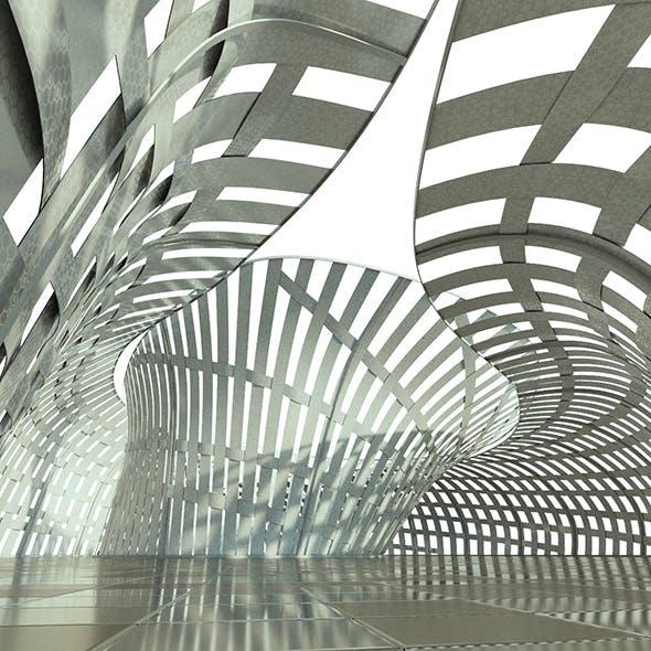 Futuristic ephemeral Pavilion