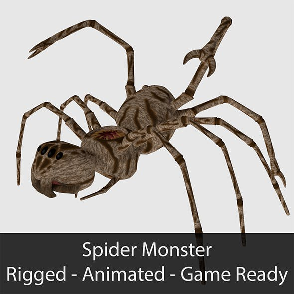 Spider Monster - Game Ready