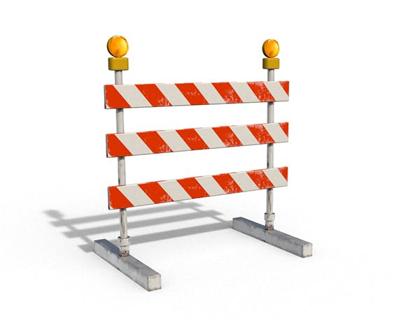 Construction Barrier - 3DOcean Item for Sale