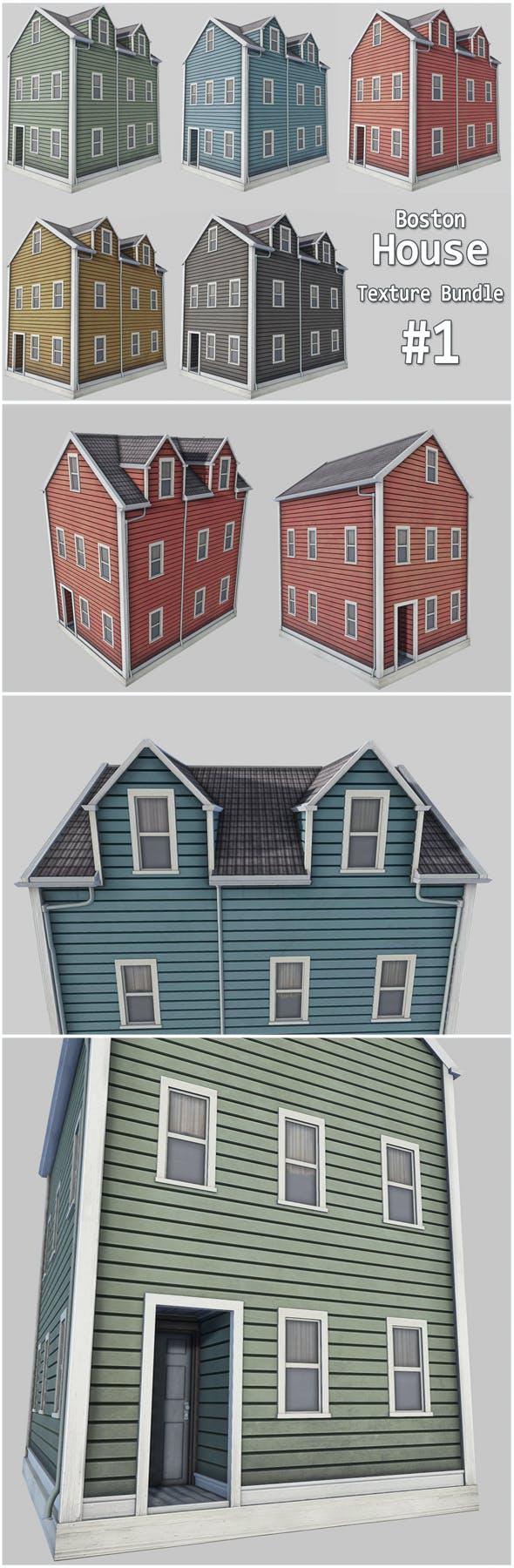 Boston House Bundle 01 - 3DOcean Item for Sale