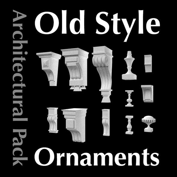 Architectural Retro Ornaments & Old Style Decors Pack