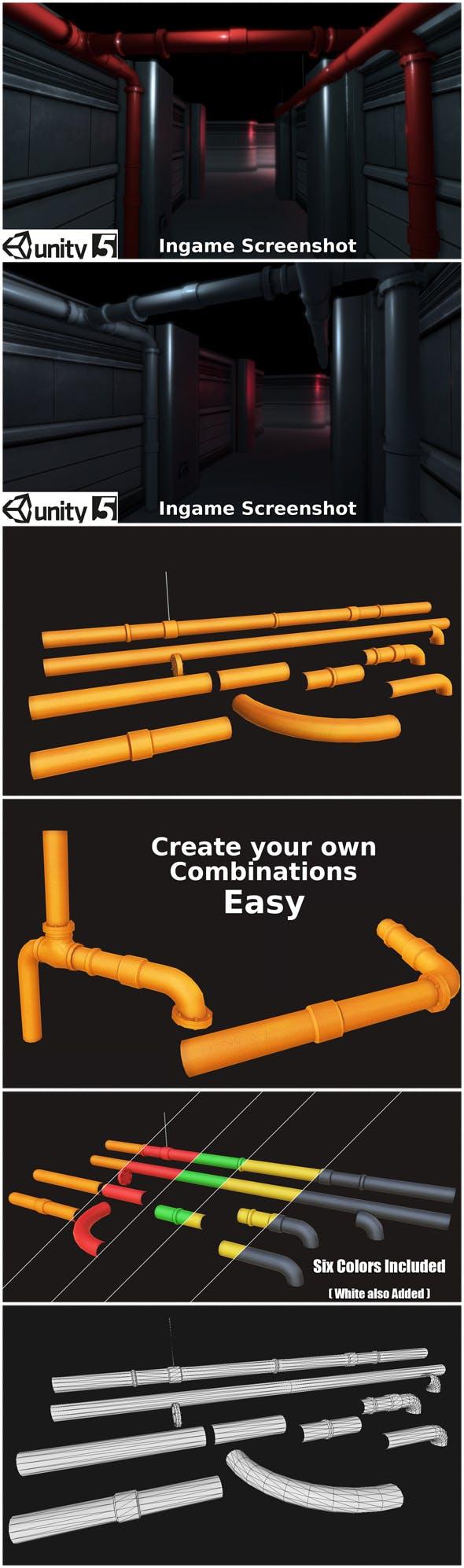 Pipe Set 01 - 3DOcean Item for Sale