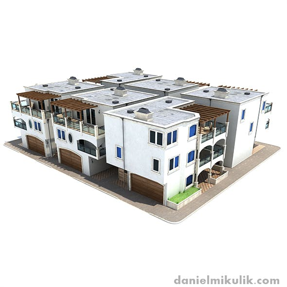 Settlement Los Angeles - 3DOcean Item for Sale