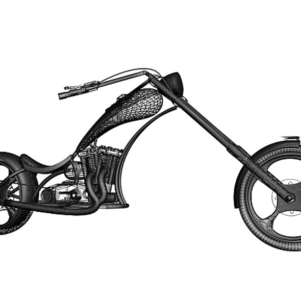 3d model of American Chopper