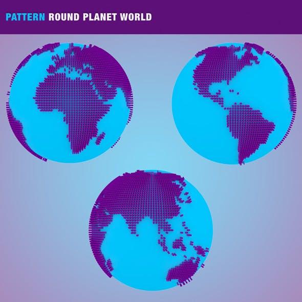 Pattern Round Planet World