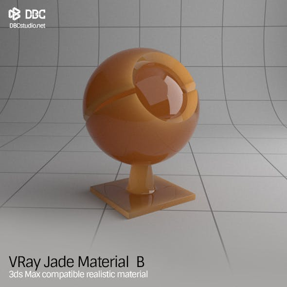3ds Max V-Ray (Ver 3.4) Jade Material B - 3DOcean Item for Sale
