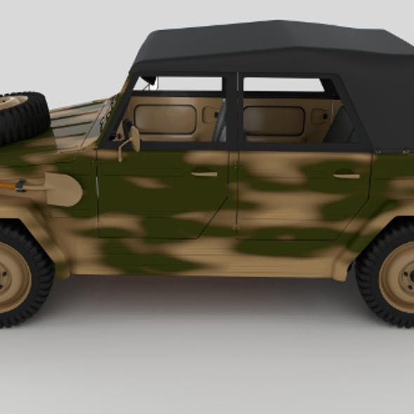 VW Type 181 Army with interior top up
