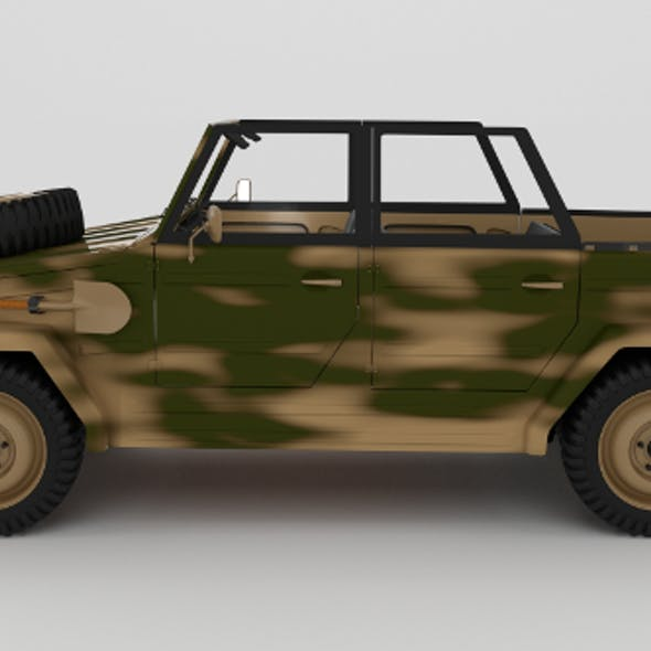 VW Type 181 with interior Army