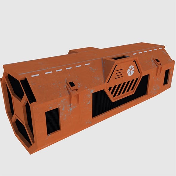Transport Container - Game Ready - 3DOcean Item for Sale