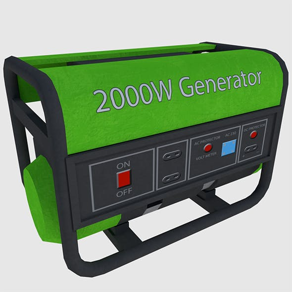 Power Generator - Game Ready - 3DOcean Item for Sale
