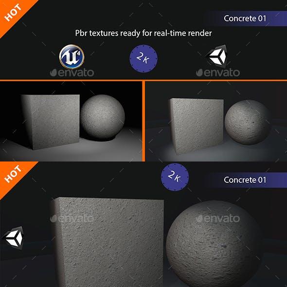 PBR Concrete 01 Texture