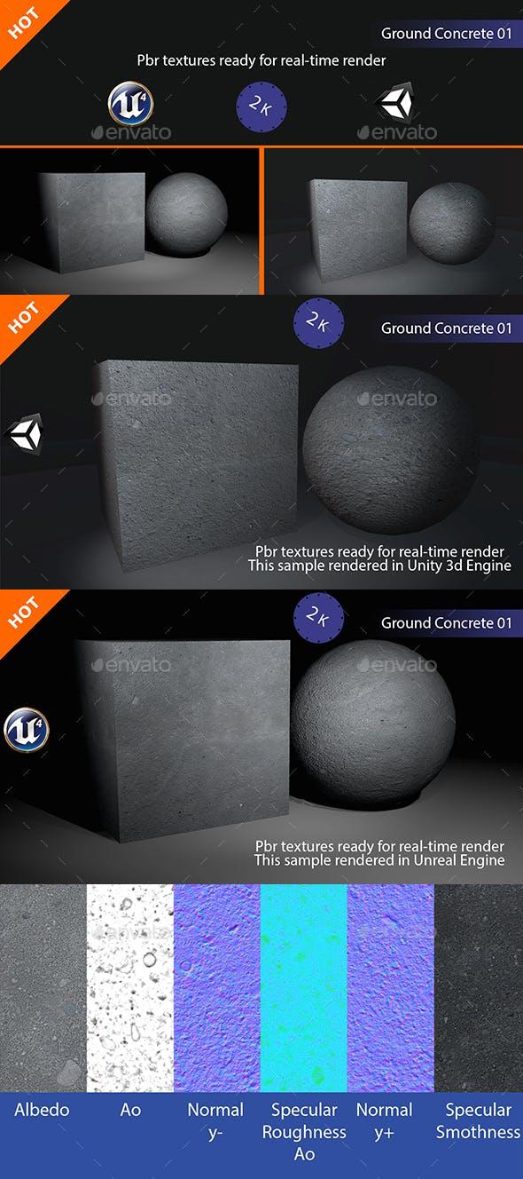 PBR Ground Concrete 01 Texture - 3DOcean Item for Sale