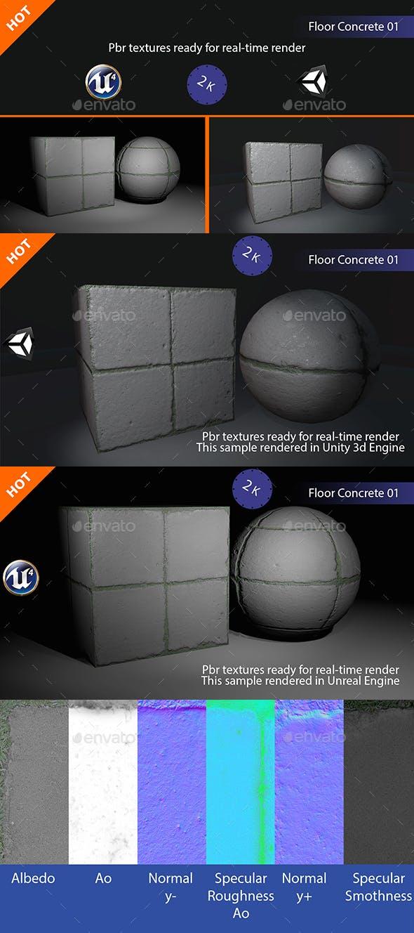 PBR Floor Concrete 01 Texture - 3DOcean Item for Sale