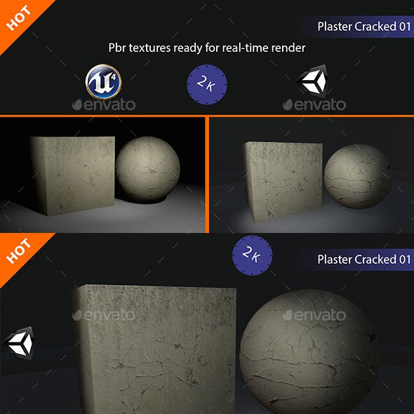 PBR Plaster Cracked 01 Texture