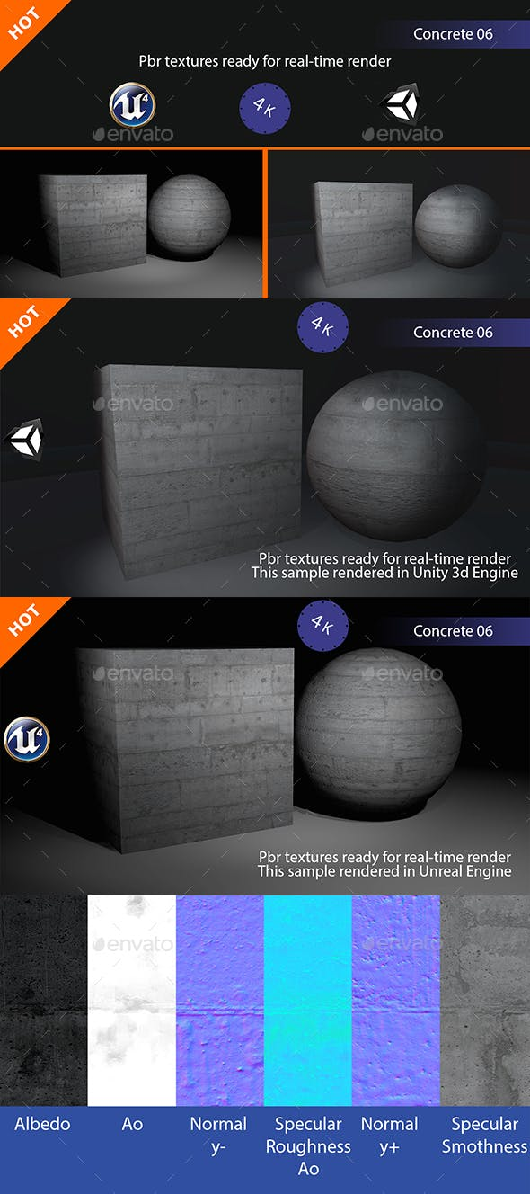 PBR Concrete 06 Texture - 3DOcean Item for Sale