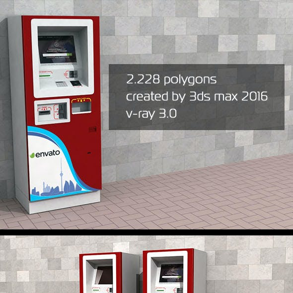 3D ATM Machine - Outdoor