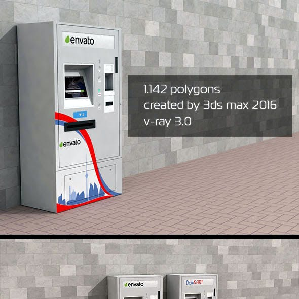 3D ATM Machine - Outdoor 2