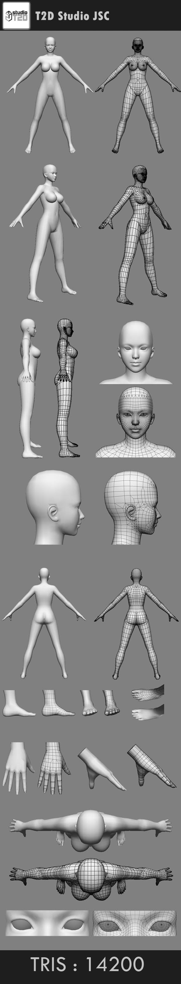 body girl - 3DOcean Item for Sale