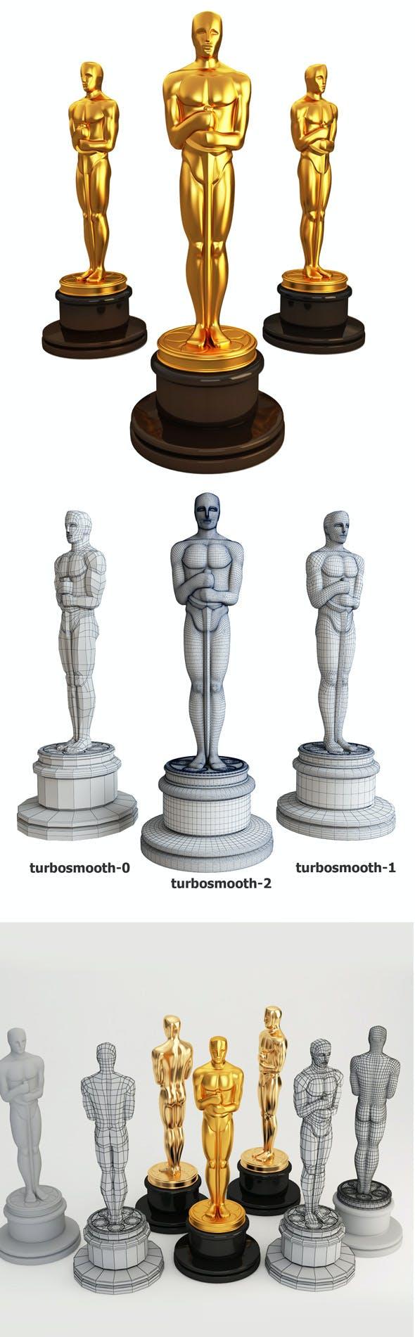 3d model Oscar statuette - 3DOcean Item for Sale
