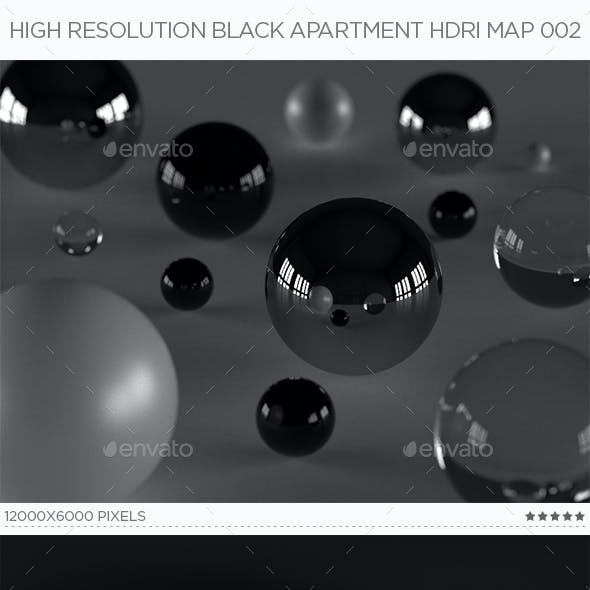 High Resolution Black Apartment HDRi Map 002