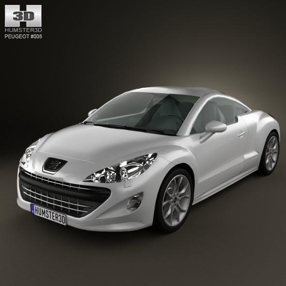 Peugeot 308 RCZ 2011 lowpoly