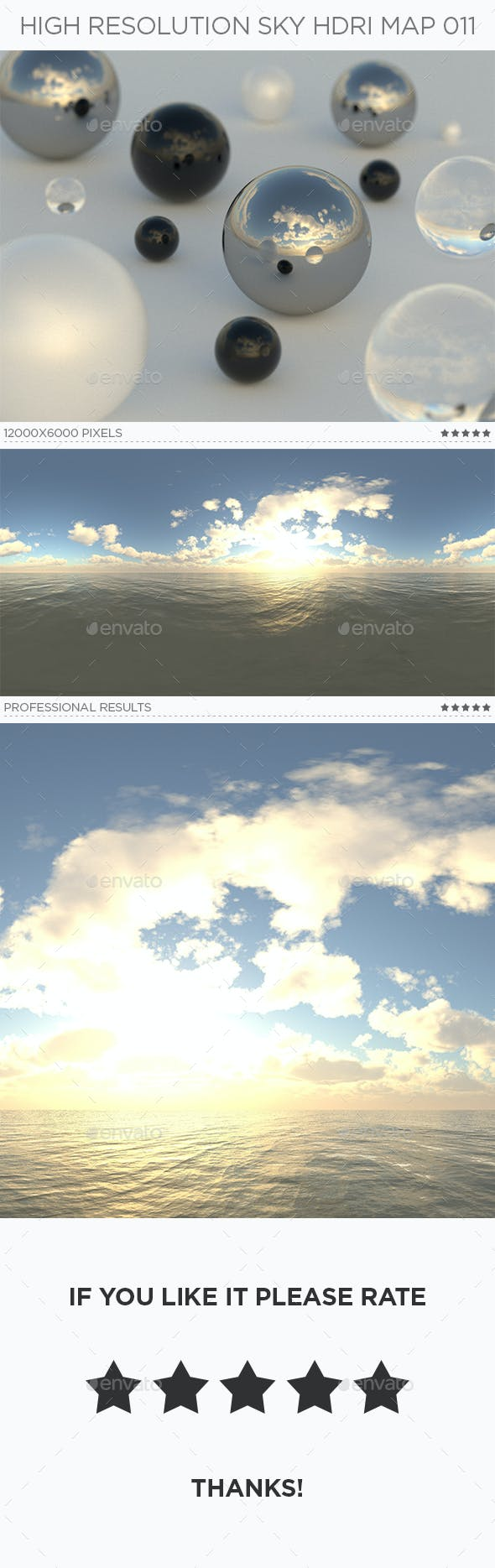 High Resolution Sky HDRi Map 011 - 3DOcean Item for Sale