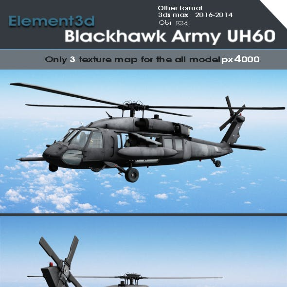 Element 3d Black Hawk Army Model