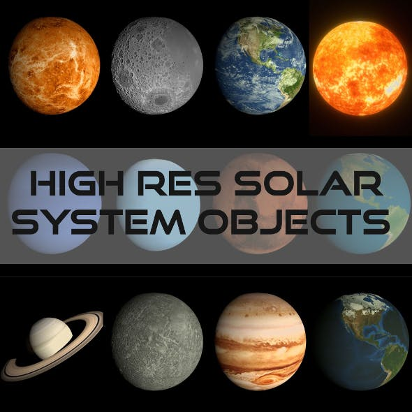 HD Solar System Pack - 3DOcean Item for Sale