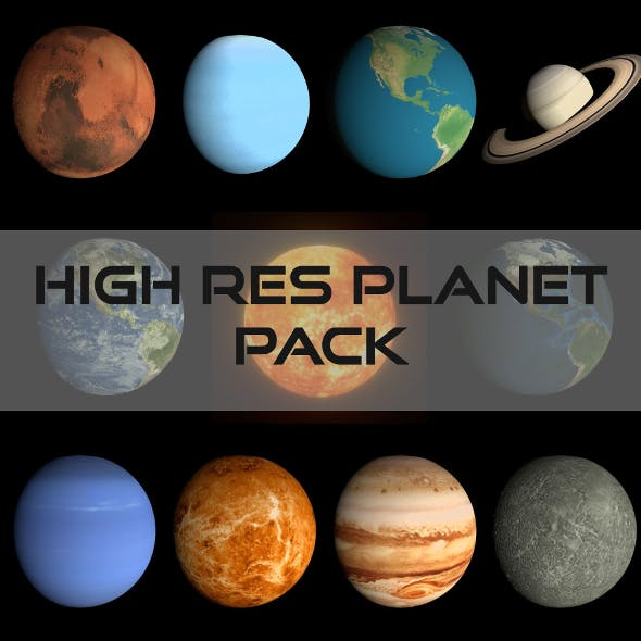 HD Planet Pack - 3DOcean Item for Sale