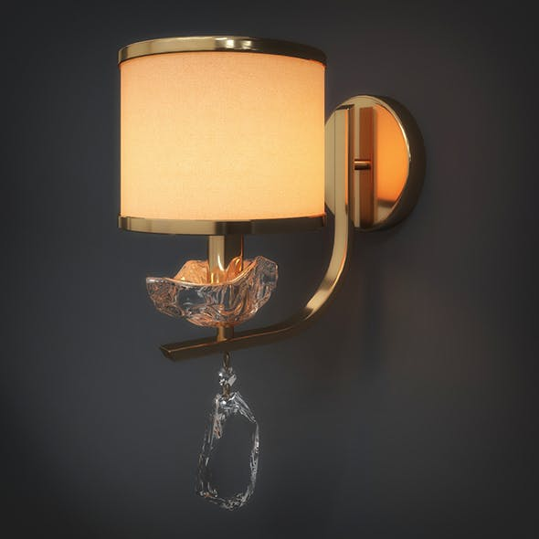 Wall Light (3dsmax + Vray Ready) - 3DOcean Item for Sale