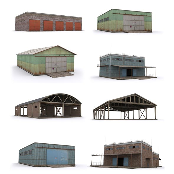 Pack-Hangar - 3DOcean Item for Sale