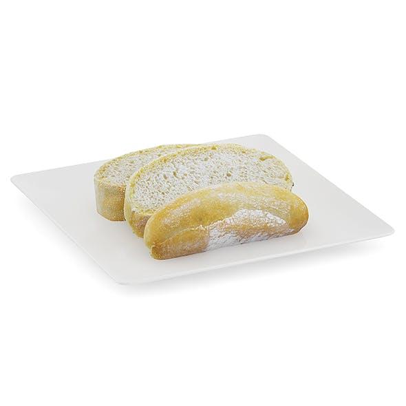 Sliced Bread on White Plate