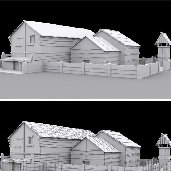 Low Poly House Model