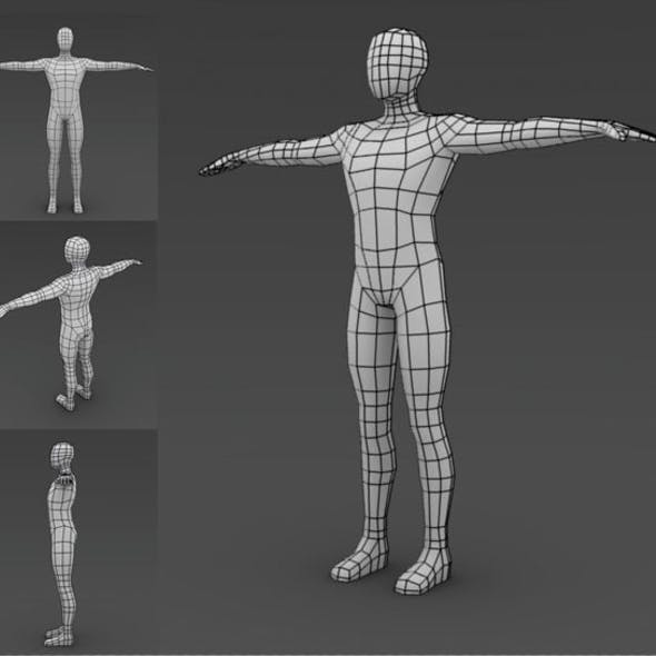 Low poly Base mesh (Male)