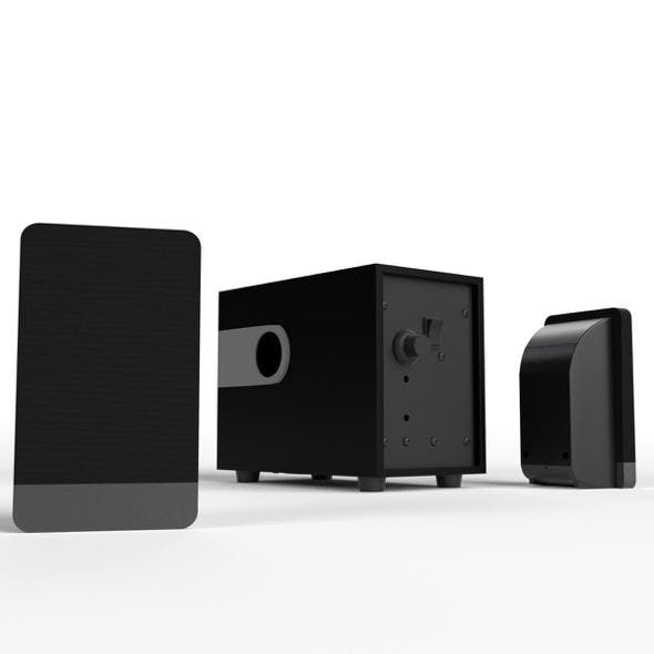 Computer Speakers (Satellite and Woofer)