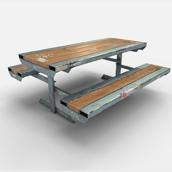 Skate Park Bench PBR Textures