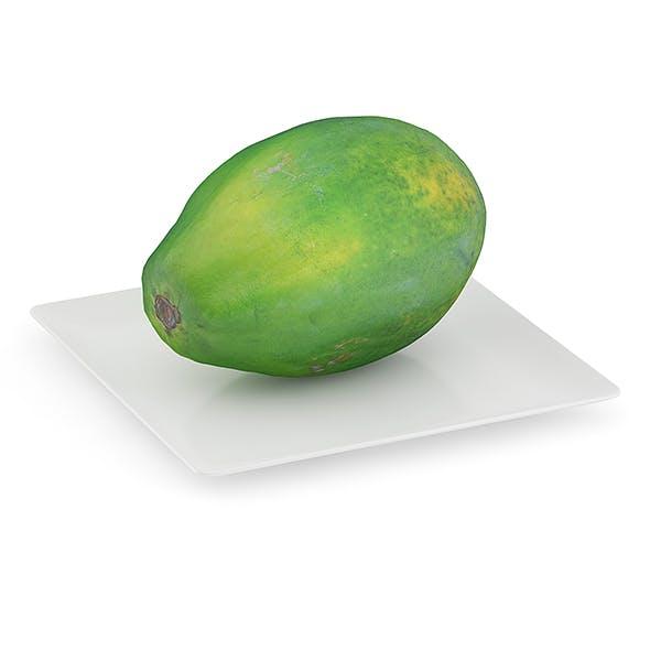 Papaya on White Plate