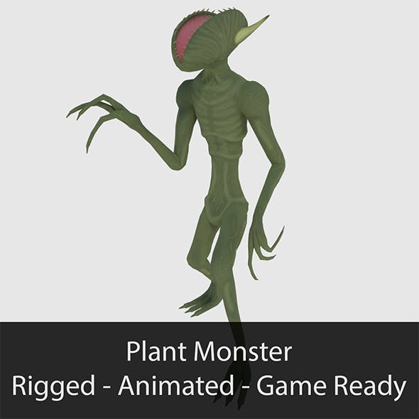 Plant Monster - Game Ready