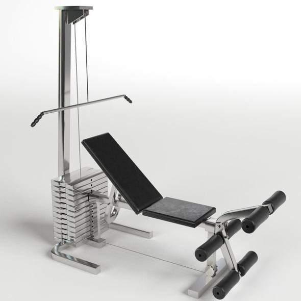 Gym Equipment - Pectoral and leg bench machine - 3DOcean Item for Sale