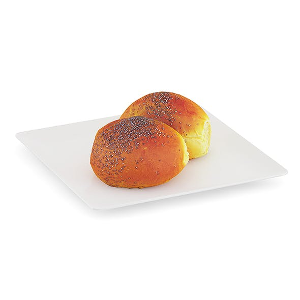 Double Bun with Poppy Seeds - 3DOcean Item for Sale