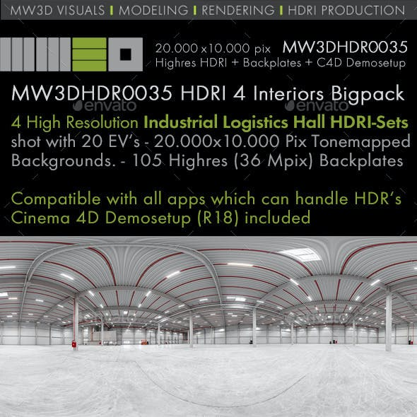 MW3DHDR0035 - 4 Industrial Logistc Hall HDRI Sets