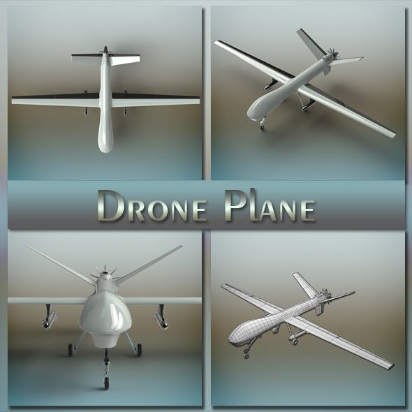 Drone Plane - 3DOcean Item for Sale