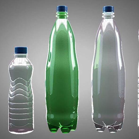 5 water bottles pack