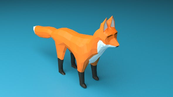 Fox Low Poly - 3DOcean Item for Sale
