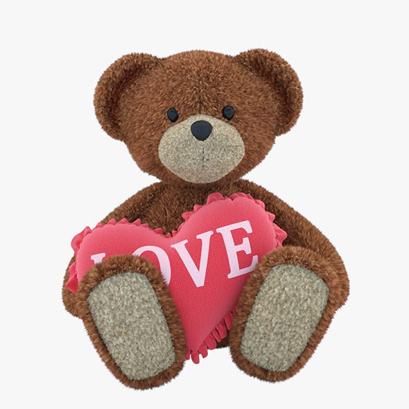 Bear Toy With Pillow-heart