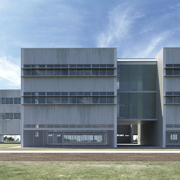 Office building - High-tech university headquarters - 3DOcean Item for Sale
