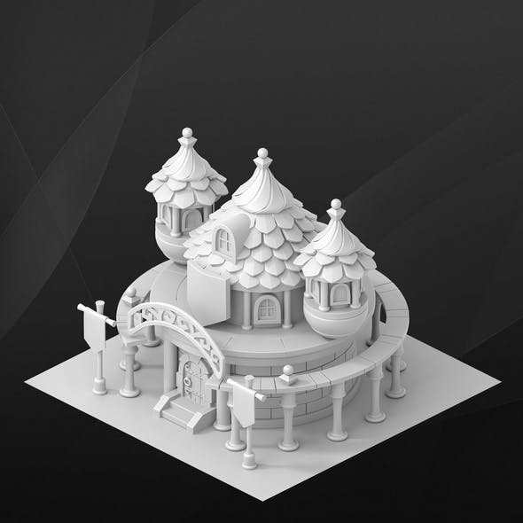 Fantasy game house. University.