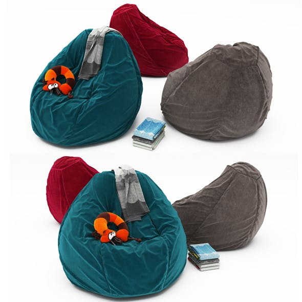 Pouf collection 12 - 3DOcean Item for Sale