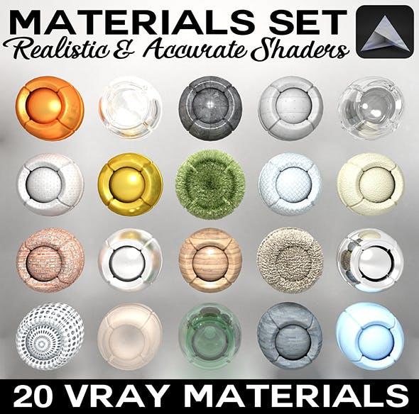 Materials Set - 3DOcean Item for Sale