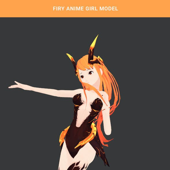 Anime girl topology model